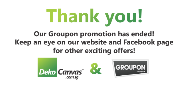 Groupon Promotion at DekoCanvas